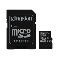 Kingston Canvas Select - Flash memory card (microSDHC to SD adapter included) - 32 GB - UHS Class 1 / Class10 - microSDHC UHS-I