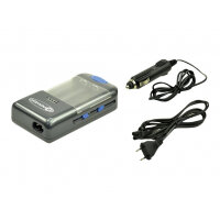 2-Power Universal Battery Charger - Battery charger / charging stand + car power adapter - 1000 mA (USB) - Europe