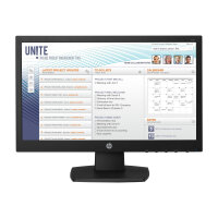 "HP v197 - LED Computer Monitor with KVM switch - 18.5"" (18.5"" viewable) - 1366 x 768 - TN - 200 cd/m² - 600:1 - 5 ms - DVI-D, VGA - black"