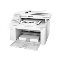 HP LaserJet Pro MFP M227fdn - Multifunction printer - B/W - laser - Legal (216 x 356 mm) (original) - A4/Legal (media) - up to 28 ppm (copying) - up to 28 ppm (printing) - 260 sheets - 33.6 Kbps - USB 2.0, LAN, USB 2.0 host