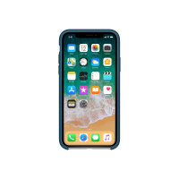 Apple - Back cover for mobile phone - silicone - cosmos blue - for iPhone X