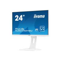 "Iiyama ProLite XUB2492HSU-W1 - LED Computer Monitor - 24"" (23.8"" viewable) - 1920 x 1080 Full HD (1080p) - IPS - 250 cd/m² - 1000:1 - 5 ms - HDMI, VGA, DisplayPort - speakers - white"