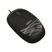 Logitech M105 - Mouse - optical - wired - USB - black