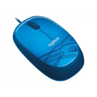 Logitech M105 - Mouse - optical - wired - USB - blue