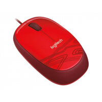Logitech M105 - Mouse - optical - wired - USB - red