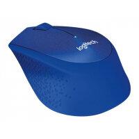 Logitech M330 SILENT PLUS - Mouse - 3 buttons - wireless - 2.4 GHz - USB wireless receiver - blue