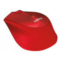 Logitech M330 SILENT PLUS - Mouse - 3 buttons - wireless - 2.4 GHz - USB wireless receiver - red