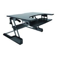 NewStar Sit-Stand Desktop Workstation - Black In Colour - Convert Your Regular Desk To An Ergonomic Sit-Stand Desk!