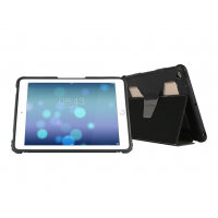 Max Cases Extreme Folio - Flip cover for tablet - grey - for Apple 9.7-inch iPad (5th generation)