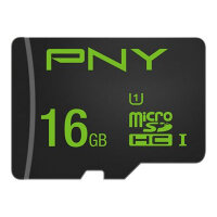 PNY High Performance - Flash memory card (microSDHC to SD adapter included) - 16 GB - UHS-I U1 / Class10 - microSDHC UHS-I