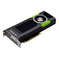 NVIDIA Quadro P5000 - Graphics card - Quadro P5000 - 16 GB GDDR5 - PCIe 3.0 x16 - DVI, 4 x DisplayPort