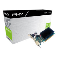 PNY GeForce GT 710 - Graphics card - GF GT 710 - 1 GB DDR3 - PCIe 2.0 x8 low profile - DVI, D-Sub, HDMI