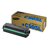 Samsung CLT-C505L - High Yield - cyan - original - toner cartridge (SU035A) - for ProXpress SL-C2620DW, SL-C2670FW, SL-C2680FX