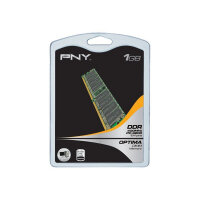 PNY - DDR - 1 GB - DIMM 184-PIN - 400 MHz / PC3200 - unbuffered - non-ECC