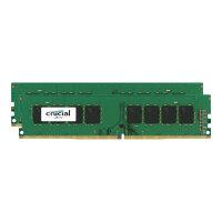 Crucial - DDR4 - 32 GB: 2 x 16 GB - DIMM 288-pin - 2400 MHz / PC4-19200 - CL17 - 1.2 V - unbuffered - non-ECC