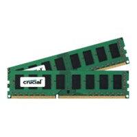 Crucial - DDR3L - 8 GB: 2 x 4 GB - DIMM 240-pin - 1600 MHz / PC3-12800 - CL11 - 1.35 V - unbuffered - non-ECC