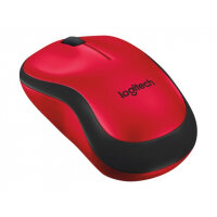 Logitech M220 Silent - Mouse - optical - 3 buttons - wireless - 2.4 GHz - USB wireless receiver - red