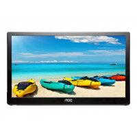 "AOC I1659FWUX - LED monitor - 16"" (15.6"" viewable) - portable - 1920 x 1080 Full HD (1080p) - IPS - 220 cd/m² - 700:1 - 25 ms - USB - piano black"
