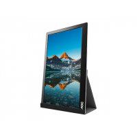 "AOC I1601FWUX - LED Computer Monitor - 15.6"" (15.6"" viewable) - portable - 1920 x 1080 Full HD (1080p) - IPS - 220 cd/m² - 5 ms - USB-C - black/silver"