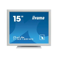 "Iiyama ProLite T1531SR-W5 - LED Computer Monitor - 15"" - touchscreen - 1024 x 768 - TN - 370 cd/m² - 700:1 - 8 ms - HDMI, VGA, DisplayPort - speakers - white"