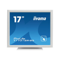 "Iiyama ProLite T1731SR-W5 - LED Computer Monitor - 17"" - touchscreen - 1280 x 1024 - TN - 250 cd/m² - 1000:1 - 5 ms - HDMI, VGA, DisplayPort - speakers - white"