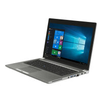 "Toshiba Tecra Z40t-C-10L  Laptop - Core i5 6300U / 2.4 GHz - Win 10 Pro 64-bit - 8 GB RAM - 256 GB SSD - 14"" IPS touchscreen 1920 x 1080 (Full HD) - HD Graphics 520 - Wi-Fi - steel gray metallic - with 1 Year Reliability Guarantee - Up to 8 Hours Battery"