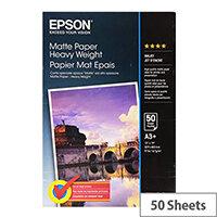 Epson - Matte - A3 plus (329 x 423 mm) - 167 g/m² - 50 sheet(s) paper - for EcoTank ET-16500; SureColor P5000, P800, SC-P10000, P20000, P5000