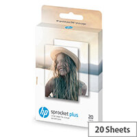 HP ZINK Sticky-Backed - Glossy - self-adhesive - 58 x 87 mm - 258 g/m² - 20 sheet(s) photo paper - for Sprocket Plus Photo