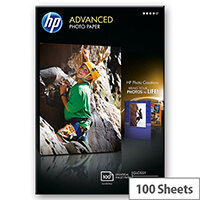 HP Advanced Glossy Photo Paper - Glossy - 100 x 150 mm - 250 g/m² - 100 sheet(s) photo paper - for Envy 5055, 7645; Officejet 5255, 6000 E609, 7500; PageWide MFP 377; PageWide Pro 452