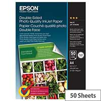 Epson Double-Sided Photo Quality Inkjet Paper - Matte - A4 (210 x 297 mm) - 140 g/m² - 50 sheet(s) photo paper - for EcoTank ET-16500, 2700, 2750, 3700, 3750, 4750, 7750; Expression Premium XP-6000, 6005