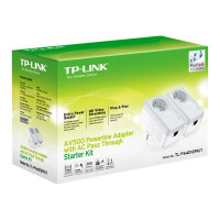 TP-Link TL-PA4010PKIT AV500+ Powerline Kit with AC Pass Through - V3 - bridge - HomePlug AV (HPAV) - wall-pluggable (pack of 2)
