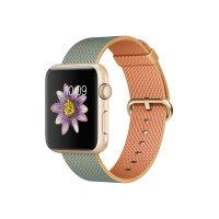 Apple Watch Sport - 42 mm - gold aluminium - smart watch with band - woven nylon - gold/royal blue - band size 145-215 mm - Wi-Fi, Bluetooth - 30 g