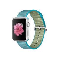 Apple Watch Sport - 42 mm - silver aluminium - smart watch with band - woven nylon - scuba blue - band size 145-215 mm - Wi-Fi, Bluetooth - 30 g