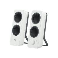 Logitech Z207 - Speakers - for PC - 2.0-channel - wireless - Bluetooth - 5 Watt (Total) - white