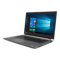 "Toshiba Tecra A40-C-18R  Laptop - Core i5 6200U / 2.3 GHz - Win 7 Pro (includes Win 10 Pro Licence) - 4 GB RAM - 128 GB SSD - 14"" 1366 x 768 (HD) - HD Graphics 520 - Wi-Fi - steel gray metallic - Up to 8 Hours Battery Life"