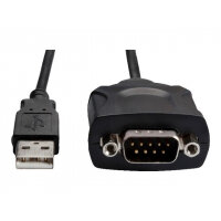 Fujitsu USB to Serial Adapter Cable - Serial adapter - USB - RS-232 - black - for ESPRIMO D738/E94, D958/E94, Q956; LIFEBOOK E744, E754, S935, T725, U745; Stylistic Q704