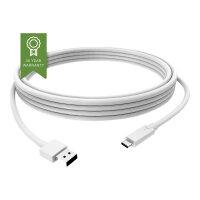 Vision - USB cable - USB-C (M) to USB Type A (M) - USB 3.1 - 3 A - 2 m - white