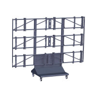 "Vogel's Professional PFT 8810 - Cart for 3x3 video wall / AV System - black - screen size: 46""-55"""