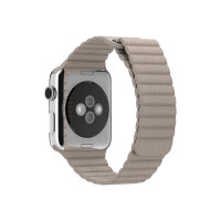 Apple 42mm Leather Loop - Large - watch strap - stone leather - for Watch (42 mm)