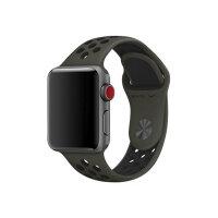 Apple 38mm Nike Sport Band - Watch strap - 130-200 mm - cargo khaki/black - demo