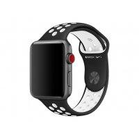 Apple 42mm Nike Sport Band - Watch strap - 140-210 mm - black, white - demo