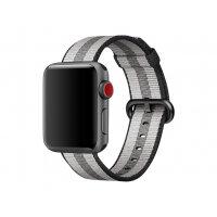 Apple 38mm Woven Nylon Band - Watch strap - 125-195 mm - black stripe - for Watch (38 mm)