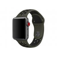 Apple 38mm Nike Sport Band - Watch strap - 130-200 mm - black, cargo khaki