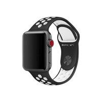 Apple 38mm Nike Sport Band - Watch strap - 130-200 mm - black, white