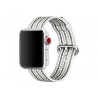 Apple 38mm Woven Nylon Band - Watch strap - 125-195 mm - gray stripe