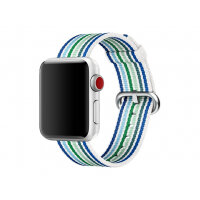 Apple 38mm Woven Nylon Band - Watch strap - 125-195 mm - blue stripe