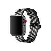 Apple 38mm Woven Nylon Band - Watch strap - 125-195 mm - black stripe