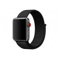 Apple 38mm Nike Sport Loop - Watch strap - 130-190 mm - black, pure platinum