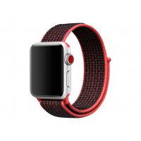 Apple 38mm Nike Sport Loop - Watch strap - 130-190 mm - black, bright crimson