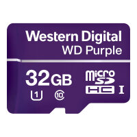 WD Purple WDD032G1P0A - Flash memory card - 32 GB - UHS-I U1 / Class10 - microSDHC - purple
